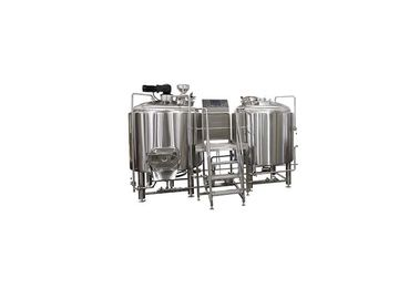 Pemanasan Uap 100L Pilot Brewing Equipment Dengan Glycol Cooling System ISO / CE
